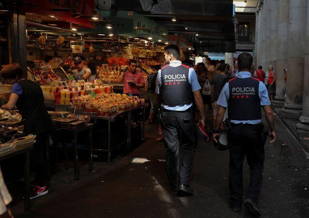 Mossos d'Esquadra en Barcelona