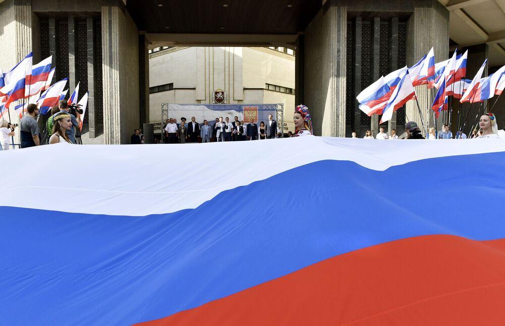 Rusia celebra a lo grande el Día de la Bandera Nacional