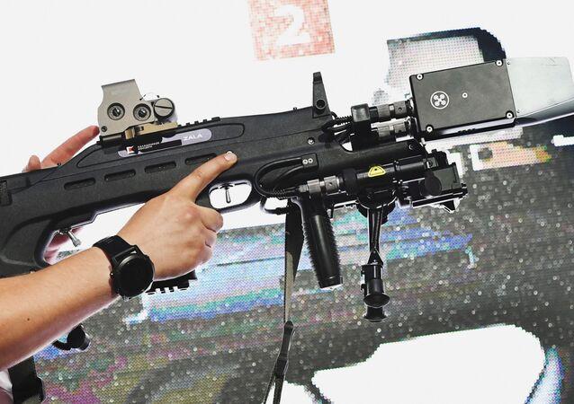 El fusil no letal antidrones, presentado por la empresa rusa Kalashnikov como un producto para la seguridad