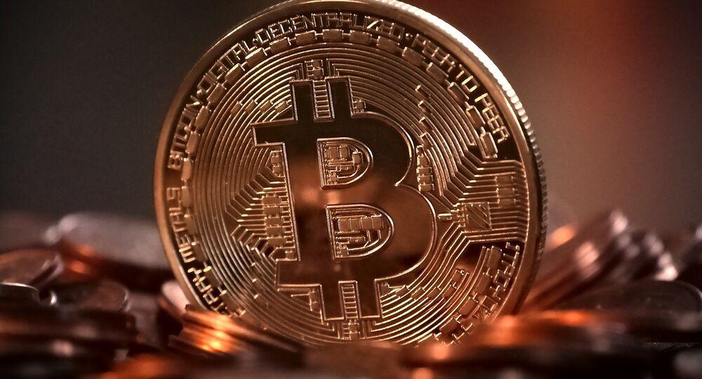 Un bitcoin (criptomoneda)