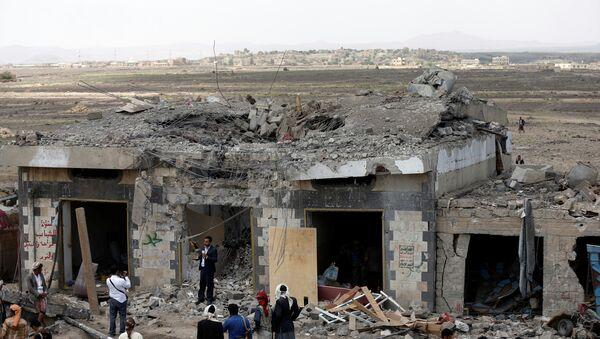 Bombardeo en Yemen - Sputnik Mundo