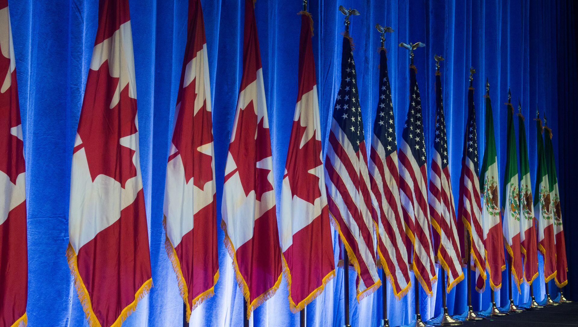 Las banderas de Canadá, EEUU y México - Sputnik Mundo, 1920, 01.07.2020