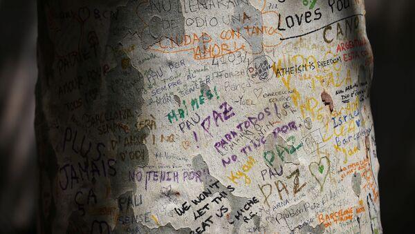 Las palabras del apoyo tras los atentados en Cataluña (imagen referencial) - Sputnik Mundo