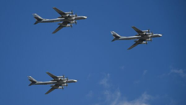 Los bombarderos estratégicos rusos Túpolev Tu-95MS - Sputnik Mundo