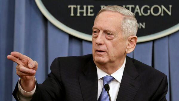 James Mattis, secretario de Defensa de EEUU (archivo) - Sputnik Mundo