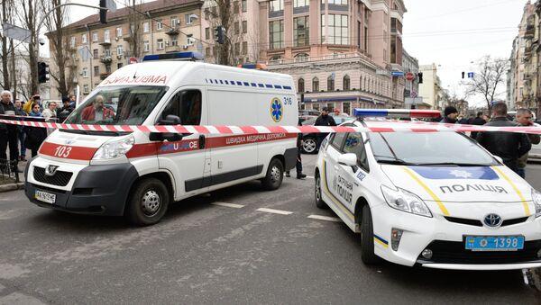 Ambulancia y Policía de Ucrania (archivo) - Sputnik Mundo