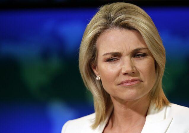 Heather Nauert, portavoz del Departamento de Estado de EEUU