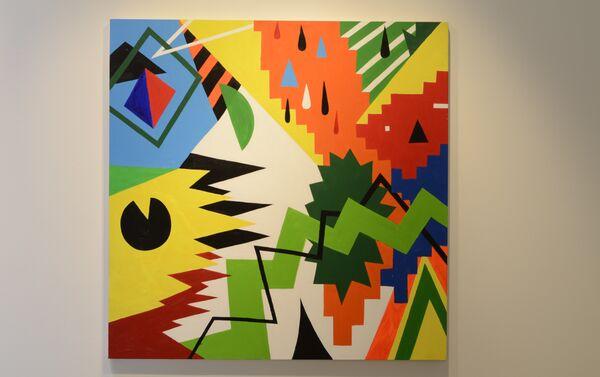Obras expuestas en el Centro Cultural de España en Montevideo en ocasión de Bienalsur - Sputnik Mundo