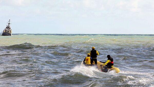 Labores de rescate tras el naufragio en Brasil (Archvo) - Sputnik Mundo