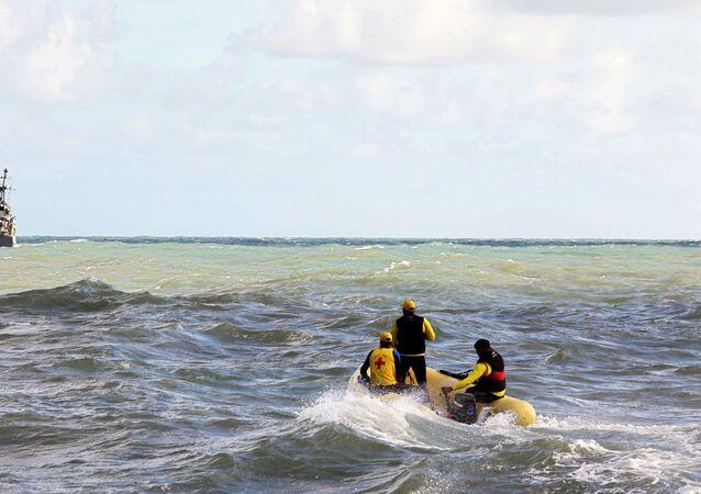 Labores de rescate tras el naufragio en Brasil (Archvo)