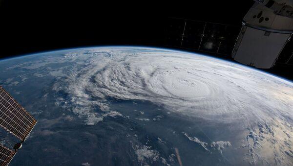 El huracán Harvey visto desde el espacio - Sputnik Mundo