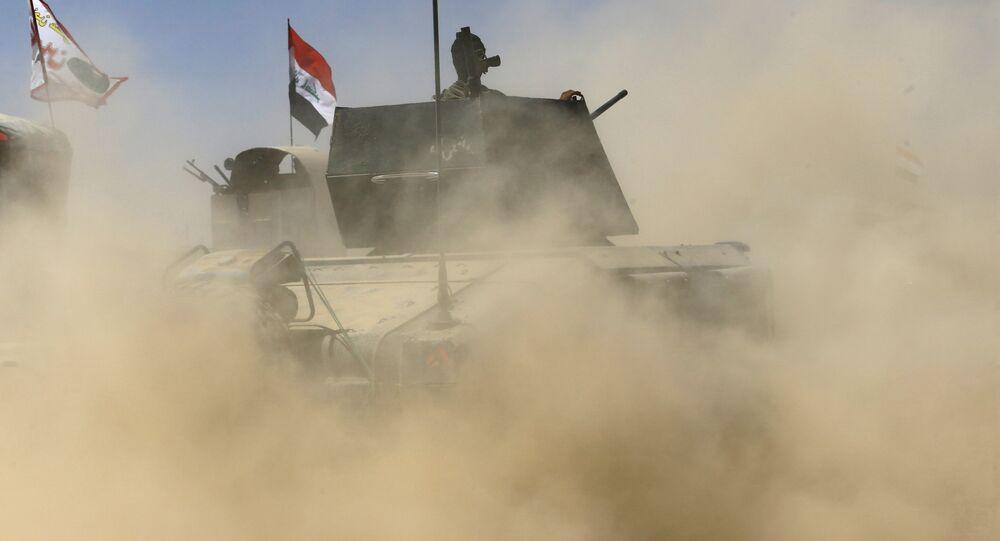 Militares iraquíes durante la operación antiterrorista (archivo)