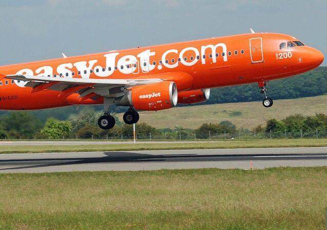 Un avión de la aerolínea británica EasyJet