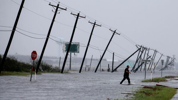 Consecuencias del huracán Harvey en Texas, EEUU - Sputnik Mundo
