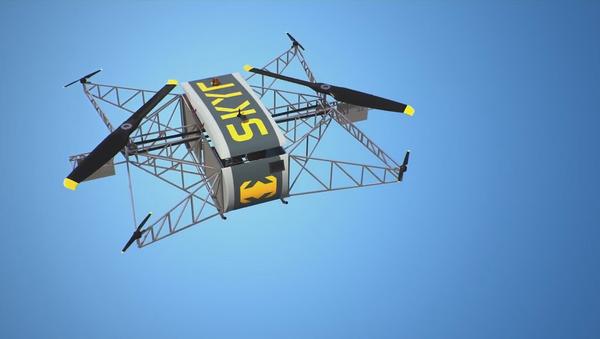 La aeronave no tripulada SKYF (captura de pantalla) - Sputnik Mundo