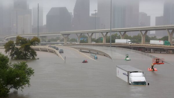 Consecuencias del huracán Harvey en Houston, EEUU - Sputnik Mundo