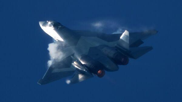 El caza ruso Su-57 - Sputnik Mundo