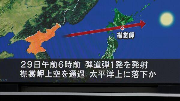 La trayectoria del nuevo misil lanzado por Corea del Norte - Sputnik Mundo