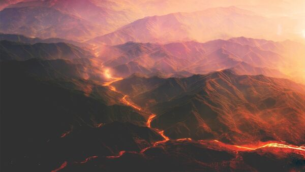Una caldera volcánica (imagen referencial) - Sputnik Mundo