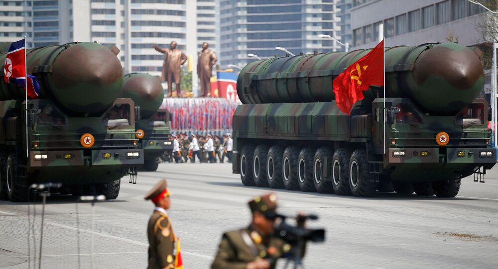 Misiles intercontinentales balísticos de Corea del Norte (archivo)