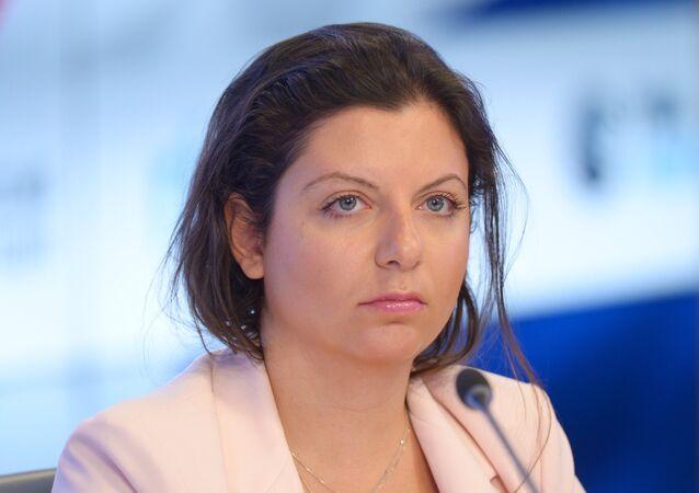 Margarita Simonián, la directora de la  de noticias Sputnik (archivo)