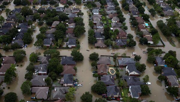 Consecuencias del huracán Harvey en Texas, EEUU (imagen referencial) - Sputnik Mundo