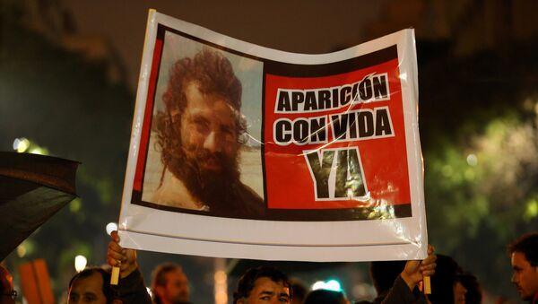 Protesta en Buenos Aires, Argentina, por la desaparición del activist Santiago Maldonado - Sputnik Mundo