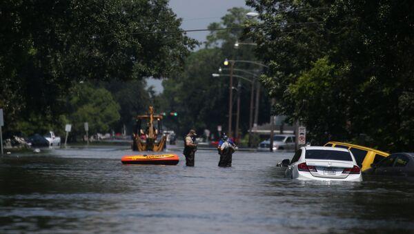 Consecuencias del huracán Harvey en Porth Arthur, Texas - Sputnik Mundo