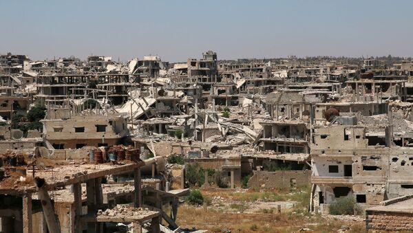 Edificios destruidos en Deraa, Siria (archivo) - Sputnik Mundo