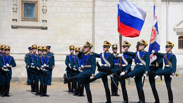 Los soldados del Regimiento Presidencial de Rusia - Sputnik Mundo