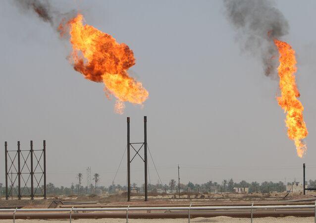 Un oleoducto en Irak (imagen referencial)