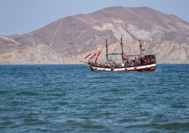 La bahía de Koktebel, en Crimea