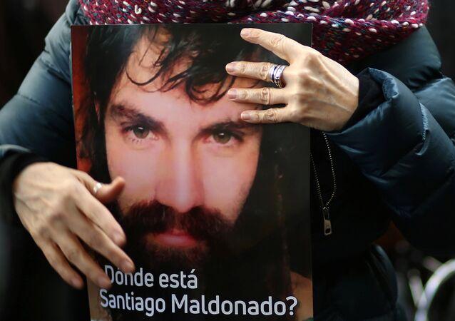 Un retrato de Santiago Maldonado (archivo)