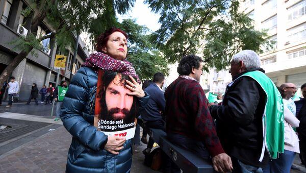 Manifestación en Buenos Aires, Argentina, por la desaparición de Santiago Maldonado (archivo) - Sputnik Mundo