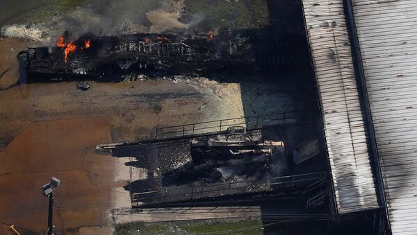 Incendio en la planta química Arkema en Texas, EEUU - Sputnik Mundo