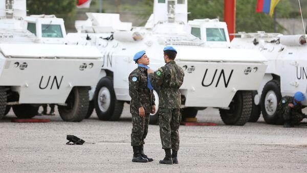 Los pacificadores de la ONU (archivo) - Sputnik Mundo