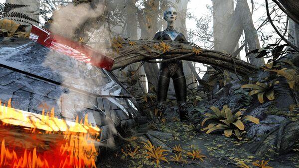 Accidente de un ovni (ilustración) - Sputnik Mundo