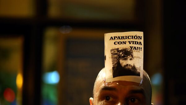 Manifestación en Buenos Aires, Argentina, por la desaparición de Santiago Maldonado - Sputnik Mundo