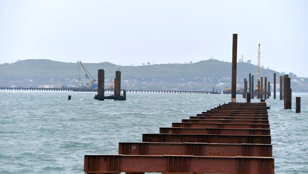 Construction of Kerch Strait Bridge in Crimea - Sputnik Mundo