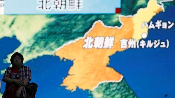 Corea del Norte en un mapa (archivo) - Sputnik Mundo
