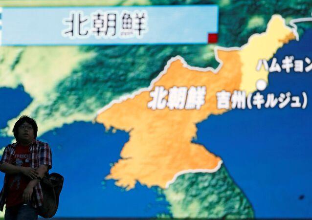 Corea del Norte en un mapa (archivo)