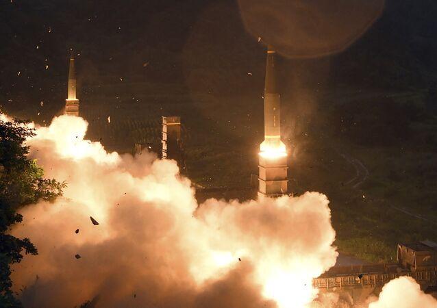 Lanzamiento de misiles surcoreanos (archivo)