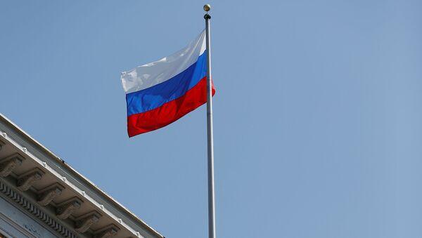 Bandera de Rusia en el Consulado en San Francisco, EEUU - Sputnik Mundo