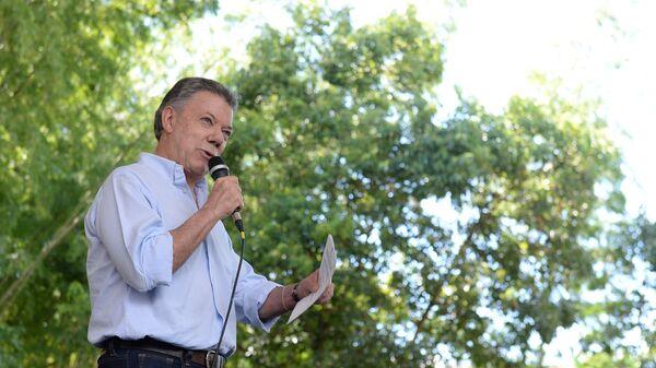 Juan Manuel Santos, epresidente de Colombia - Sputnik Mundo