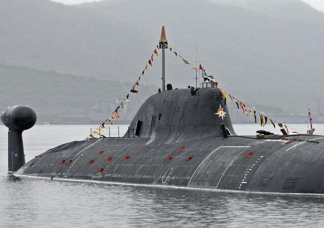 Un submarino nuclear ruso de clase Akula