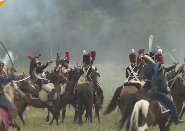 La reconstrucción de la batalla de Borodinó
