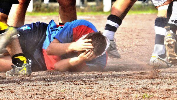 Un jugador durante un partido de rugby (archivo) - Sputnik Mundo