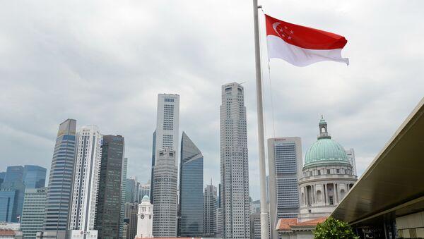 Bandera de Singapur - Sputnik Mundo