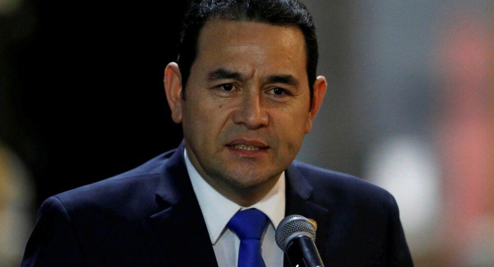 Jimmy Morales, presidente de Guatemala