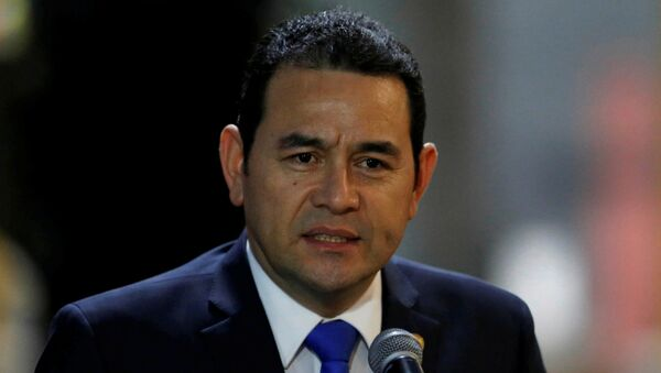 FILE PHOTO: Guatemala's President Jimmy Morales - Sputnik Mundo